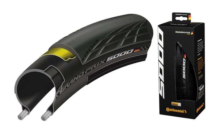 Continental Grand Prix 5000 TL Tubeless Black Chili Clincher