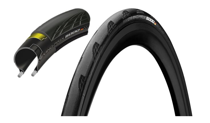 Continental Grand Prix 5000 Black Chili Clincher