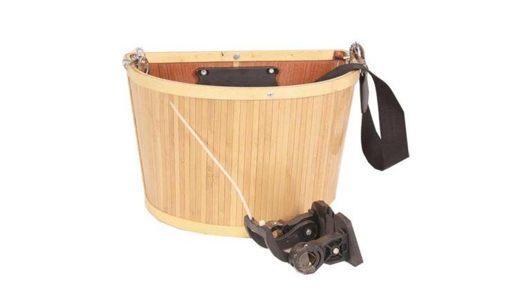 EVO E-Cargo Bamboo Quick-Release Front Basket