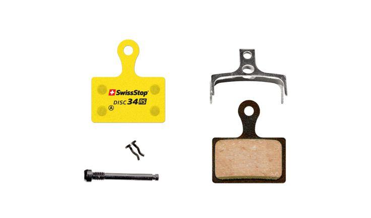 SwissStop Disc 34 RS Disc Brake Pads Pair Yellow