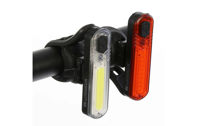 Evo USB NiteBright 60 Lumen Front 30 Lumen Rear Light Set 2-Pack