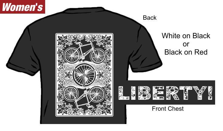 Liberty! Playing Card T-Shirt Womens
