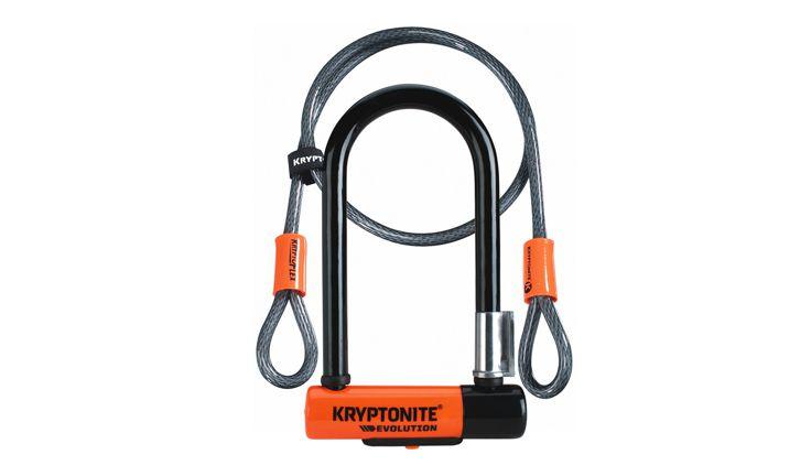 Kryptonite Evolution Mini-7 U-Lock w. 4ft Flex Cable