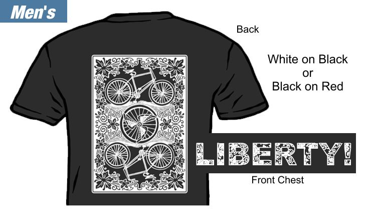 Liberty! Playing Card T-Shirt Mens