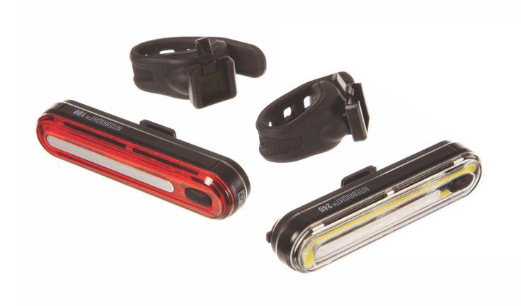Evo USB NiteBright 240 Lumen Front 100 Lumen Rear Light Set 2-Pack