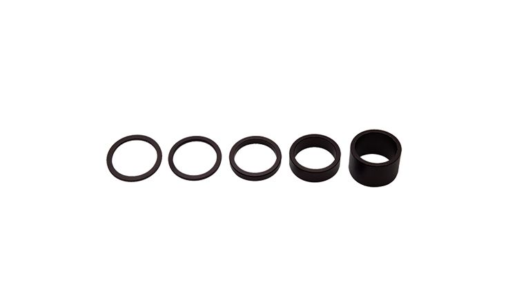 Shimano Pro 1-1/8 Matte Black Aluminum Spacer Set